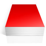 Red book. Isolated on white Stock Images