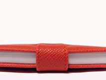 Red Book. Closed Red Book - detail Royalty Free Stock Images