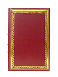 Red Book. On white background Stock Image