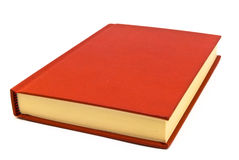 Red book. Red hardback book on a white background Stock Photography