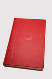 Red book. A bound red book - isolated Stock Image