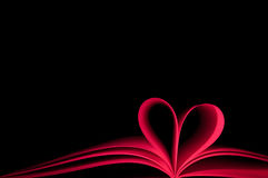 Red Book And Shape Heart Stock Photos