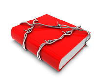 Red book with barbed wire Stock Photos