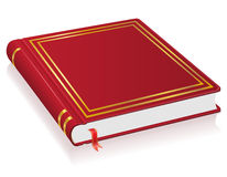 Red book with bookmark vector illustration. On white background Royalty Free Stock Image