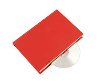 Red book with cd isolated Royalty Free Stock Images