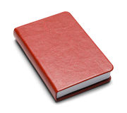 Red Book. Closed Red Book With Copy Space Isolated on White Background Royalty Free Stock Image