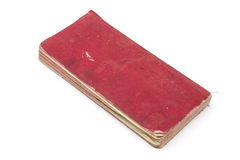 Red Book. Closeup on white background Royalty Free Stock Image