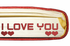 Red book detail Royalty Free Stock Photos