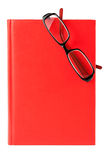 Red book and glasses Stock Photos
