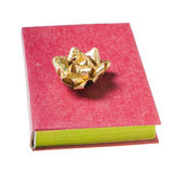 Red book with golden bow Stock Photo