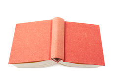 Red book isolated. Over the white background Stock Photography