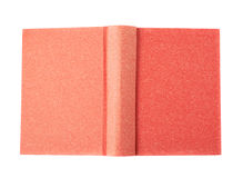 Red book isolated. Over the white background Royalty Free Stock Photos
