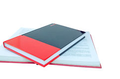 Red book isolated on white background.  Royalty Free Stock Photography