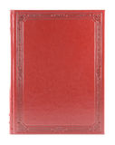 Red book isolated. On white background. Blank hardcover Stock Image