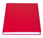 Red book lying isolated Royalty Free Stock Photo