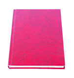 Red book lying isolated Stock Photography
