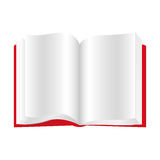 Red book open icon. Illustraction design image Stock Photography
