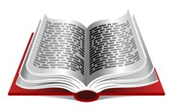 Red book. Opened book on white background Stock Photos