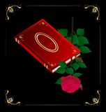 red book and rose Stock Photography