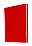 Red book standing isolated Royalty Free Stock Image