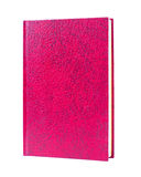 Red book standing isolated Royalty Free Stock Photos