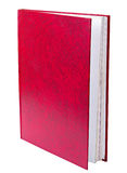 Red book standing isolated Royalty Free Stock Photo