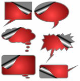 red book text bubbles, speech bubble Stock Photos
