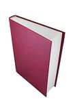Red book. Vertically standing book on white background Stock Images