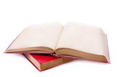 Red book on white background Stock Photo