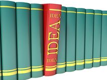 Red book with the word idea.  Royalty Free Stock Image