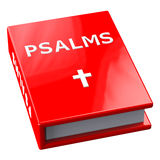 Red book with word Psalms Royalty Free Stock Photo