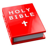 Red book with words Holy Bible Stock Photo