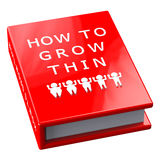 Red book with words how to grow thin. Isolated on white background.  3D render Stock Image