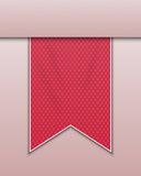 Red bookmark decoration ribbon Stock Images