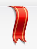 Red bookmark decoration ribbon Stock Photography