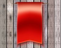 Red bookmark ribbon Stock Photos