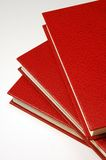 Red books. Stack of three red books Stock Image