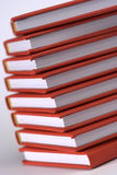 Red books. Stack of red books close up Royalty Free Stock Photography