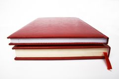 Red books. 2 books close-up, isolated on white Stock Image