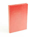Red books in leather cover. On a white background, Snake Cover Stock Photos