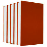 Red books on white background isolated Stock Images