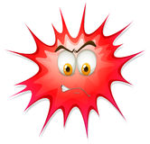 Red boom with angry face Royalty Free Stock Photo