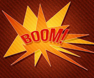 Red Boom Vintage Background Royalty Free Stock Image