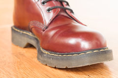 Red boot can be a fashion too Stock Image