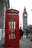 Red booth with Big ben Royalty Free Stock Photography