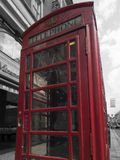 Red booth in London Stock Photo