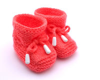Red booties. Royalty Free Stock Image