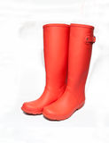 Red boots Royalty Free Stock Photography
