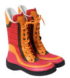 Red boots Stock Images