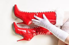 Red boots Royalty Free Stock Photo